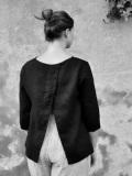 LE VESTIAIRE DE JEANNE LE VESTIAIRE DE CLE VDJ Open blouse オープンブラウス・七分袖