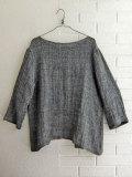 Le vestiaire de jeanne VDJ  open blouse grey linen オープンブラウス