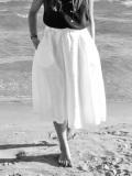 Le vestiaire de jeanne VDJ circular skirt white linen サーキュラースカート