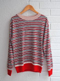 OTTI オンラインショップ ベルギーブランド bellerose woman リネンボーダー長袖Tシャツ
