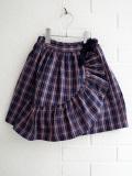 CARAMEL キャラメル Comana Skirt, Navy Check チェックフリルスカート