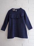 イタリア子供服 OLIVE フリルコットンフリースワンピース