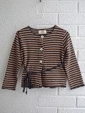 イタリア子供服 OLIVE ベルトループ付きコットン起毛カーディガン