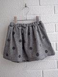 イタリア子供服 OLIVE ドット刺繍ヘリンボーンスカート