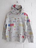 ベルギー子供服 bellerose kids ベルローズキッズ ボーイズ プリントフードスウェットパーカー