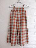 スペイン子供服 BOBO CHOSES ボボショーズ Vichy Straps Playsuit チェックサロペット