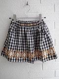 フランス子供服 bonpoint ボンポワン ギンガム刺繍スカート
