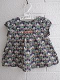 フランス子供服 bonpoint ボンポワン スモッキング刺繍リバティブラウス