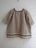 CARAMEL キャラメル caramel baby&child  Hyacinth Dress, Stone Grey スクウェアネックワンピース