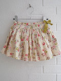 CARAMEL キャラメル caramel baby&child  Iris Skirt, Painted Flower Print Cream プリントフレアスカート
