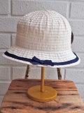 イタリア老舗帽子ブランド GREVI グレヴィ グログランリボンクロッシェ