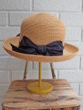 イタリア老舗帽子ブランド GREVI グレヴィ アバカリボンクロッシェ