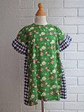 イタリア子供服 OLIVE オリーブギンガム花柄ワンピース