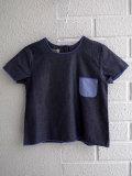 イタリア子供服 OLIVE ベビー シャンブレー半袖クルーネックシャツ