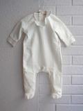 イタリア子供服 OLIVE ベビー フリル長袖襟付きロンパース