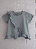 イタリア子供服 OLIVE ベビー ラッフルフリルTシャツ