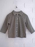 イタリア子供服 BABE&TESS 細ボーダーベビー襟付きシャツ