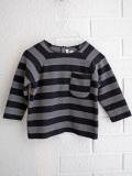 イタリア子供服 BABE&TESS 裏起毛ワイドボーダーベビーTシャツ