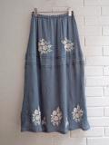 emile et ida woman 花刺繍クレープロングスカート