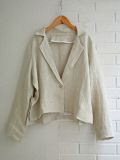 Le vestiaire de jeanne VDJ Flared jacket natural heavy linen 厚地リネンフレアジャケット