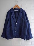 Le vestiaire de jeanne VDJ Man jacket linen indigo heavy linen メンズ厚地インディゴリネンジャケット