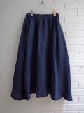Le vestiaire de jeanne VDJ Long skirt indigo linen インディゴリネンロングスカート