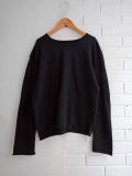 Le vestiaire de jeanne VDJ Unisex sweater black cotton knit ユニセックスコットンセーター