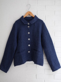 Le vestiaire de jeanne VDJ Woman jacket linen indigo heavy linen 厚地インディゴリネンジャケット
