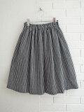 Le vestiaire de jeanne VDJ Skirt, linen ストライプリネンスカート
