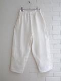 Le vestiaire de jeanne VDJ Classic trousers, linen Heavy white linen 厚地リネンロングパンツ