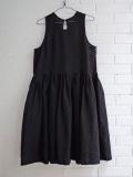 Le vestiaire de jeanne VDJ pleated dress, sleeveless, linen  リネンノースリーブギャザーワンピース