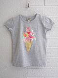 フランス子供服 BONTON ブーケプリントTシャツ