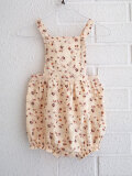 CARAMEL Clam Baby Romper キャラメル 英国子供服 ベビーフラワープリントショートサロペット