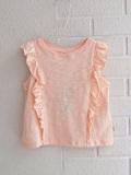 bellerose kids ベルローズキッズ フリルノースリーブTシャツ