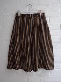 bellerose woman ベルローズウーマン ウール混ストライプスカート