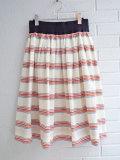 ベルローズウーマン bellerose woman ストライプコットンフレアスカート