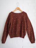 bellerose woman ベルローズウーマン アンゴラ混ドット刺繍セーター