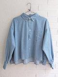 bellerose woman ベルローズウーマン ストーンウォッシュワイドシャツ