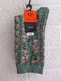 フランス老舗靴下ブランド DOREDORE ドレドレ 花柄ソックス