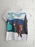 ベルギー子供服 fred+ginger フレッドアンドジンジャー ボーイズウルフプリントTシャツ