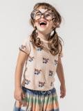 ベルギー子供服 fred+ginger フレッドアンドジンジャー サングラスガールリネン混Tシャツ