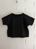 スペイン バルセロナ リトルクリエイティブファクトリー LITTLE CREATIVE FACTORY ソフトリブスウェットベビーTシャツ