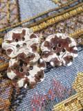パリ蚤の市 デッドストックアクセサリー ステンレス花ボタン