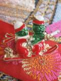 パリ蚤の市 デッドストックアクセサリー クリスマスそりブローチ