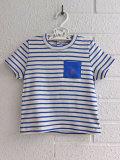 フランス子供服 PETIT BATEAU プチバトー ポケット付きボーダー半袖Tシャツ