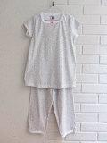 フランス子供服 PETIT BATEAU プチバトー フラワープリントスクエアネック半袖パジャマ