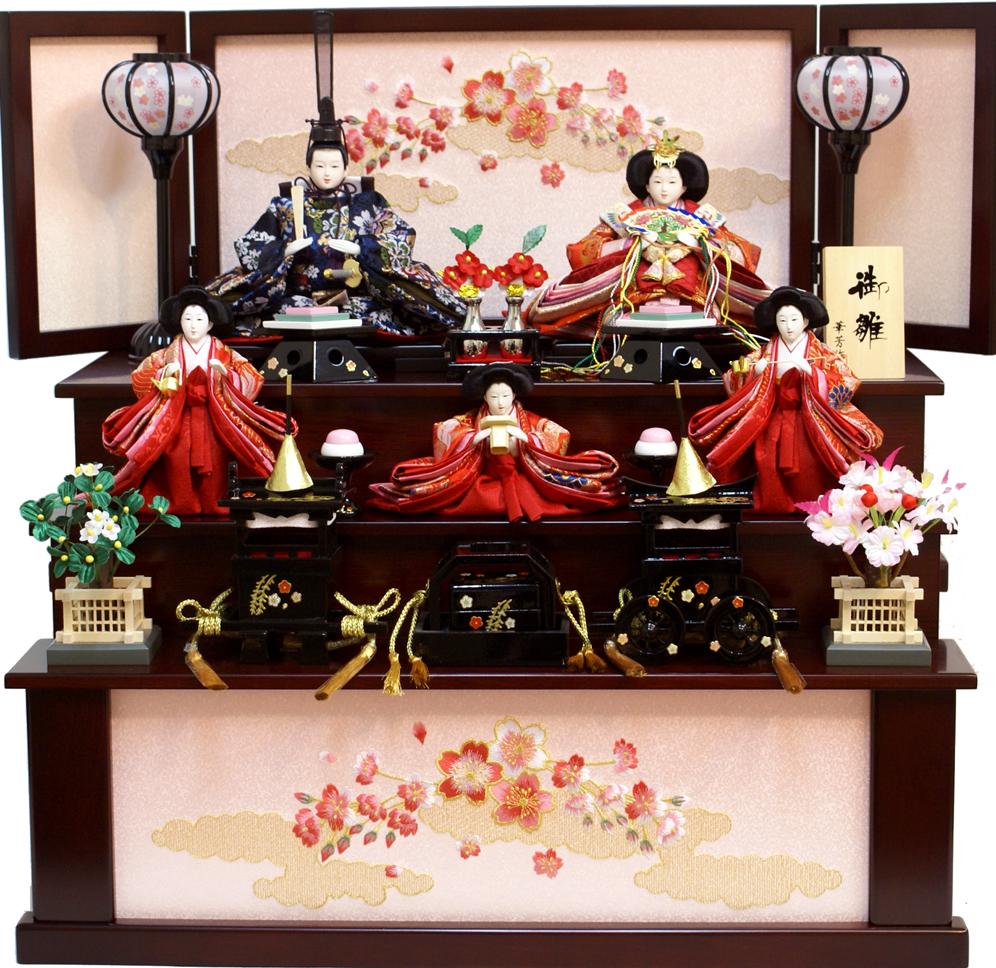 【雛人形】 華芳作 「御雛」 三段収納飾り(19-27)