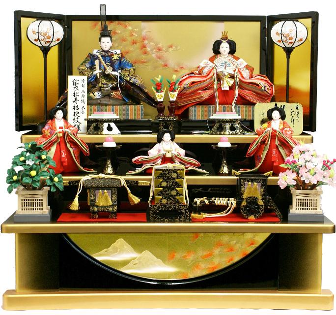 ポイント3倍!【雛人形】 千匠作 天使の十二単衣「雛ごよみ」三段飾り(38A-29B)