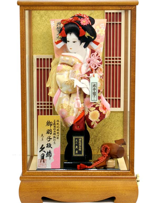 【羽子板】久月作 紅華 ケース飾り(25101-1)
