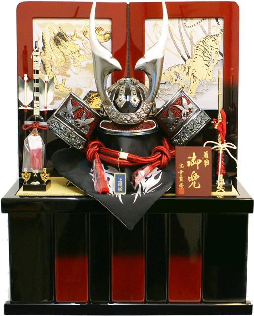 【五月人形】宝童監修 「阿古蛇貫前 着用兜25号」収納箱飾り(511-425)